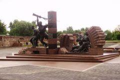 Памятник воинам пограничникам и членам их семей. Мемориалный комплекс Брестская крепость-герой.